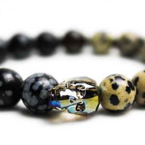 Iridescent Skull Bracelet - JCM Customs