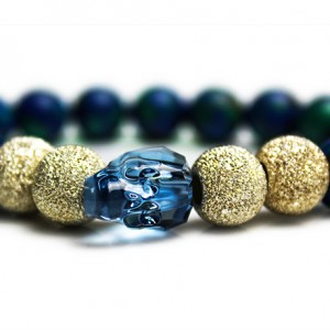Denim Blue Skull Bracelet