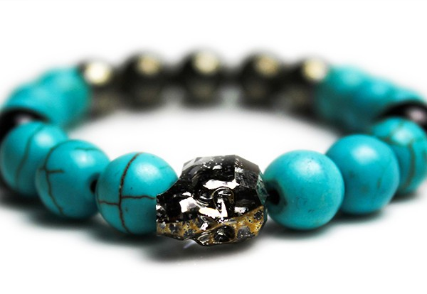 Gold Patina Skull Bracelet – JCM Customs
