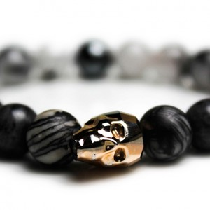 Rose Gold Skull Bracelet – JCM Customs