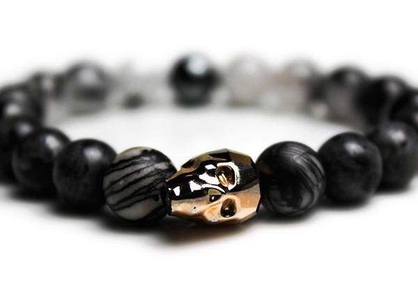 Rose Gold Skull Bracelet – JCM Customs