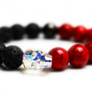 Crystal Ab Skull Bracelet - JCM Customs