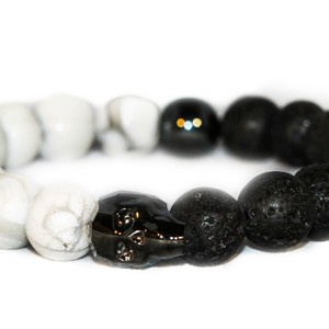 Jasper Chrome Skull Bracelet – JCM Customs