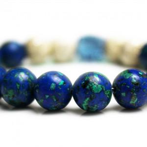 Denim Blue Skull Bracelet
