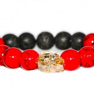 Golden Shadow Skull Bracelet - JCM Customs